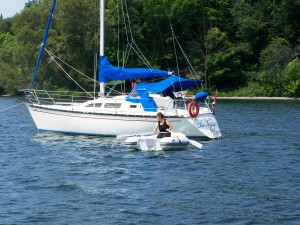 Anchored in South Bay near Waupoos